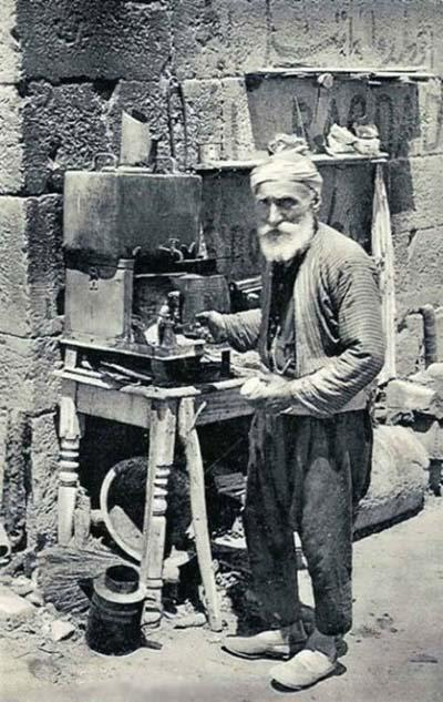 Coffee seller in the 1900s when our story passed